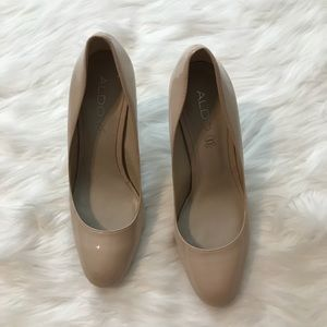 Aldo Closed Toe Tan Heels